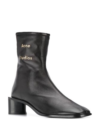 Acne Studios Branded Ankle Boots - Farfetch
