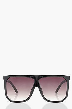 Tia Flat Top Oversized Sunglasses