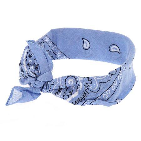Light Blue Paisley Bandana Headwrap | Claire's