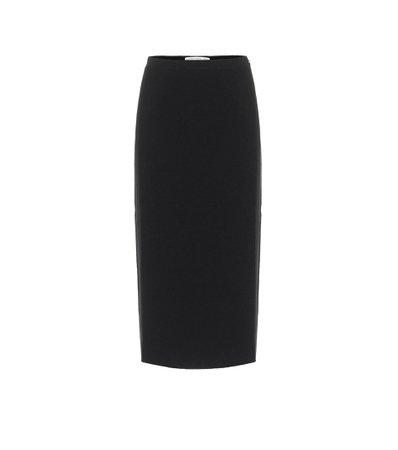 Alessandra Rich, Tweed wool-blend pencil skirt