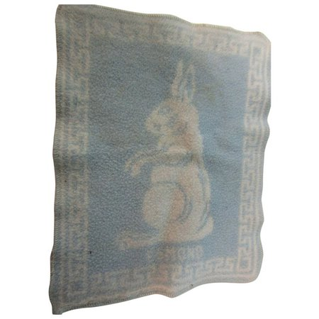 Vintage Dydee Baby Doll Blue Rabbit Blanket : The Vintage Sewing Box | Ruby Lane