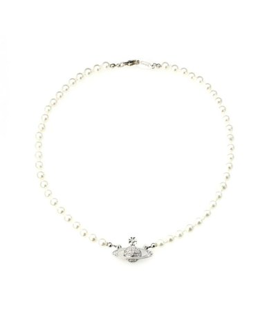 VIVIENNE WESTWOOD – Mini Bas Relief Pearl Necklace | Townhall Treasures
