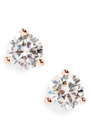 Nordstrom Round 0.50ct Cubic Zirconia Earrings | Nordstrom