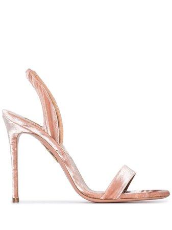 Pink Aquazzura So Nude 105mm sandals - Farfetch