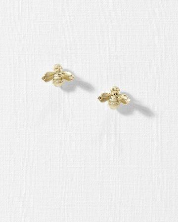 Bee earrings - Gold | Jewellery | Ted Baker UK