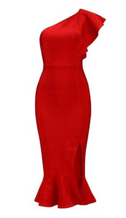 Darla Red Open Back Bandage Midi Dress – DIOR BELLA