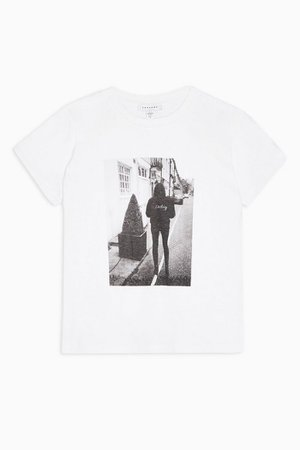 Darling Photo T-Shirt in White | Topshop
