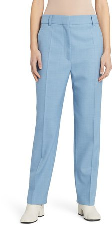 Straight Leg Wool Trousers