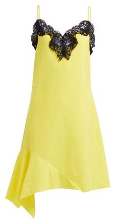 Marques'almeida - Asymmetric Cotton Poplin Dress - Womens - Yellow