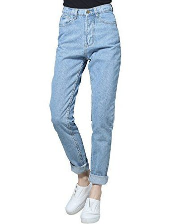 CUNLIN Vintage Sexy High Waist Jeans Mom Jeans Denim Boyfriend Jeans for Women Sexy Jeans