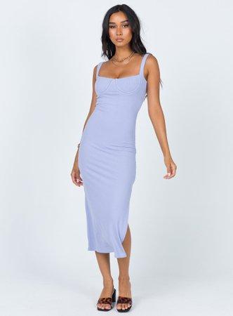 Esme Midi Dress Blue