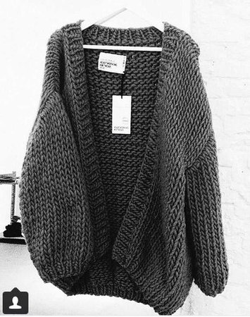 Make a style statement wearing a chunky knit cardigan - cottageartcreations.com