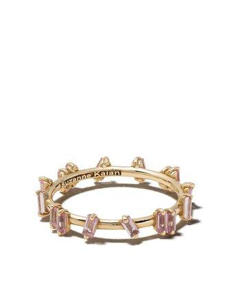 Suzanne Kalan 18Kt Yellow Gold Barb Pink Sapphire Ring | Farfetch.com