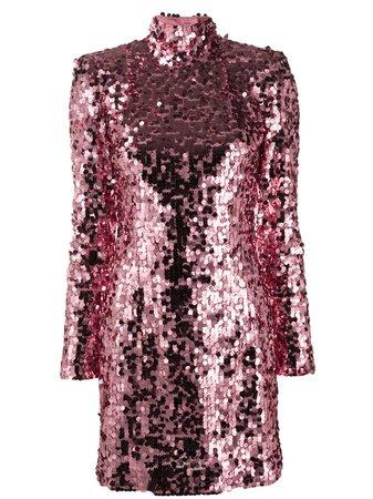Dolce & Gabbana Sequined Short Dress - Farfetch
