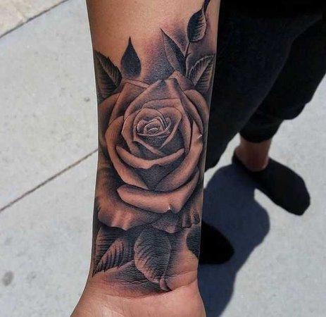 rose wrist tattoos for women - Google Search