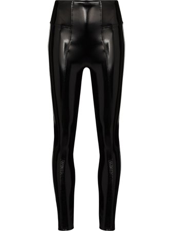 Spanx high-rise faux-leather leggings - FARFETCH