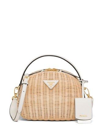 Prada Odette Wicker Shoulder Bag - Farfetch