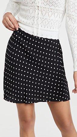 Madewell Mini Slip Skirt in Polka Dot | SHOPBOP