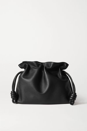 Black Flamenco leather clutch | Loewe | NET-A-PORTER