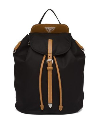Prada Saffiano Leather Backpack - Farfetch