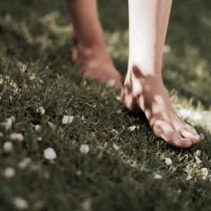 barefoot on dirt grass nature walking in a forest nature
