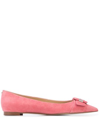 Sam Edelman Sonja Buckle Flat Mules G8886L5650 Pink   Farfetch