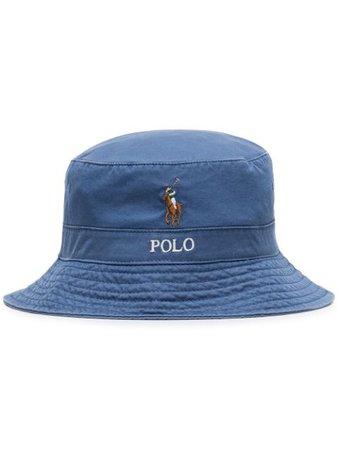 Polo Ralph Lauren Logo Embroidery Bucket Hat Ss20 | Farfetch.com