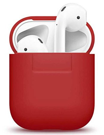 red AirPods