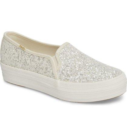 Keds® for kate spade new york triple decker glitter slip-on sneaker (Women) | Nordstrom