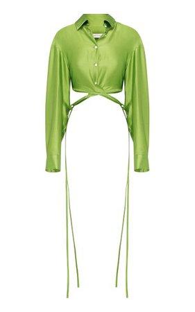 Cropped Silk Wrap Shirt By Christopher Esber   Moda Operandi