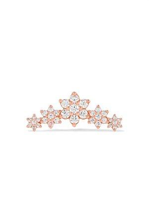 Maria Tash | Flower Garland 14-karat rose gold diamond earring | NET-A-PORTER.COM