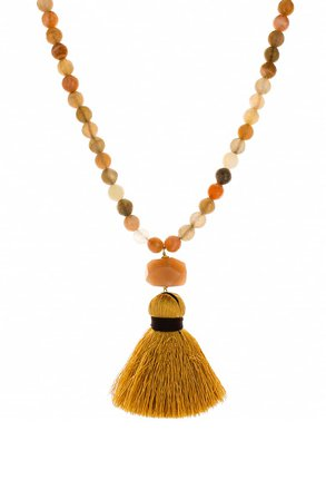 Panacea Tassel Pendant Beaded Necklace | Nordstrom