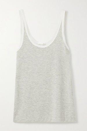 Gray Leslie stretch-jersey tank   Skin   NET-A-PORTER