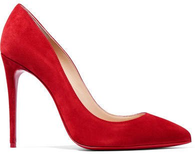 Pigalle Follies 100 Suede Pumps - Red