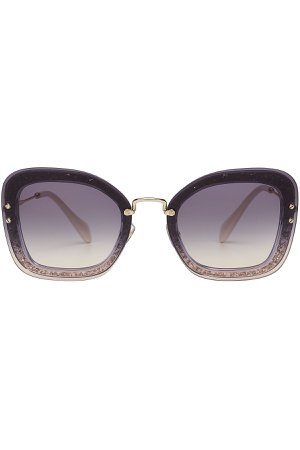 Square Sunglasses with Glitter Gr. One Size
