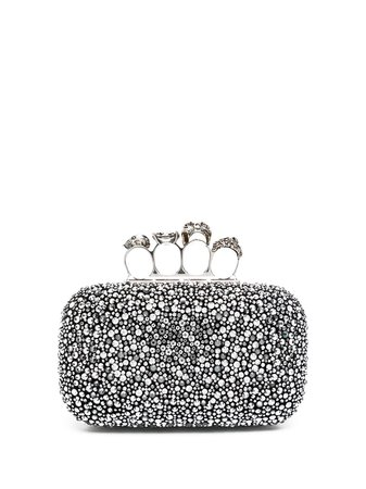 Alexander McQueen, four-ring Embellished Clutch