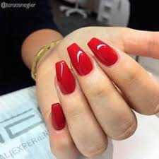 red coffin acrylic nails - Buscar con Google