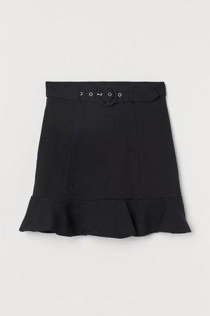 Belted Skirt - Black - Ladies | H&M US