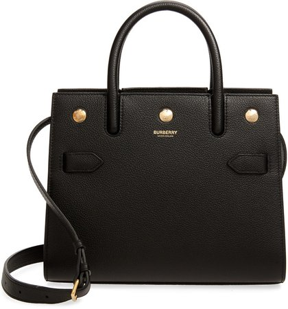 Mini Title Two-Handle Leather Bag