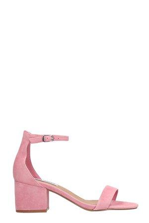 Steve Madden Pink Nabuk Irenee Sandals