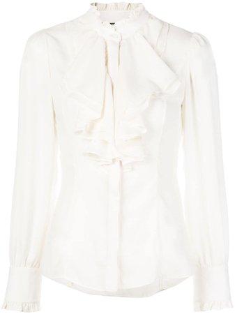 White Alexis Ferdinand ruffle neck blouse A12001086036 - Farfetch
