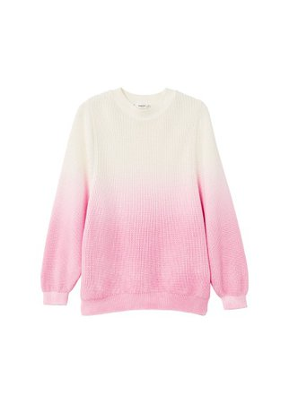 MANGO Ombré cotton sweater