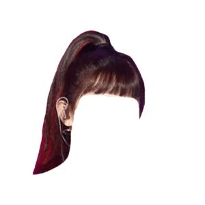 Brown and Red Hair Bangs PNG