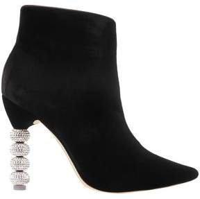 Embellished Velvet Ankle Boots