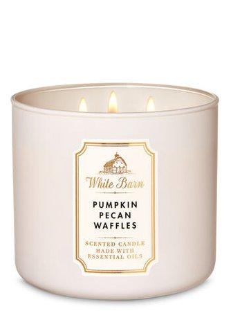 Pumpkin Pecan Waffles 3-Wick Candle - White Barn   Bath & Body Works