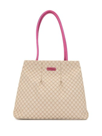 Shop brown Céline Pre-Owned pre-owned Macadam tote bag with Express Delivery - Farfetch