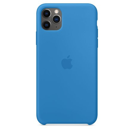iPhone 11 Pro Max Silicone Case - Surf Blue - Apple