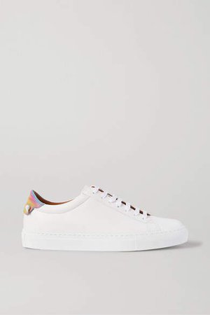 Urban Street Logo-print Leather Sneakers - White