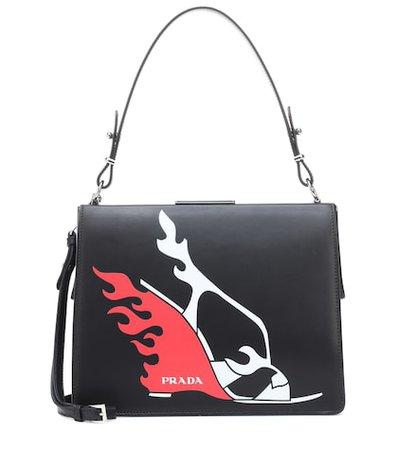 Light Frame leather shoulder bag