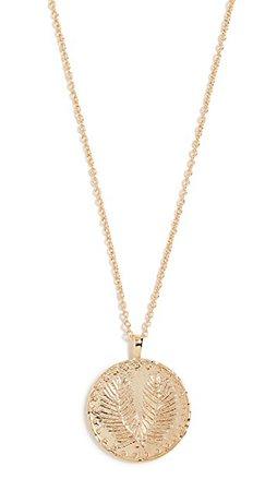 Gorjana Palm Coin Necklace | SHOPBOP